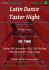 Latin Dance Taster Night