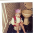 Lu on the loo, winner of our Christmas competition!