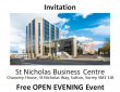 Open Evening Invitation to St Nicholas Business Centre #Sutton @cityskylineUK