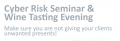 Cyber Risk Seminar & Wine Tasting Evening