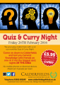 Quiz & Curry Night @ Calderfields Golf and Country Club 26/02/16