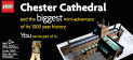 Chester Cathedral In Lego Official Launch