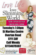St Martins Slimming World relaunch with new consultant Wendy