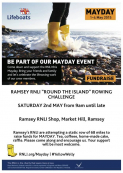 Ramsey RNLI Mayday Round The Island Static Rowing Challenge Sat 2nd May