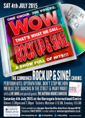Rock Up & Sing July Concert - Harrogate