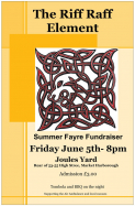 The Riff Raff Element at Joules Yard, Summer Fayre fundraiser