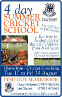 Summer Cricket School at Oswestry Cricket Club