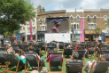 Big Screen Tennis on The Piazza