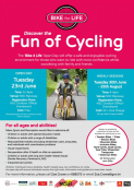 Bike 4 Life Weekly Sessions 30th June - 25th August 2015