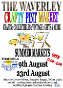 The Crafty Pint Market @ The Waverley 9th Aug