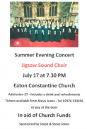 Summer charity concert at Eaton Constantine