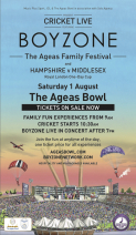 Cricket Live Presents: Boyzone and The Ageas Family Festival