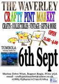 The Crafty Pint Market @ The Waverley 6th Sept