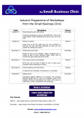 Small Business Clinic Autumn Programme