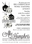 Big Christmas Wine Tasting Event