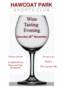 Wine Tasting Evening at Hawcoat PArk