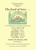 The Food of Love...  A Concert for St Valentine's Day