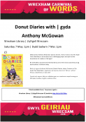 Wrexham's Carnival of Words - Donut Diaries
