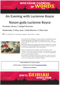 Wrexham's Carnival of Words - Lucienne Boyce