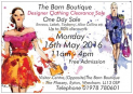 """One Day only"" Designer Boutique Clothing Clearance Sale"