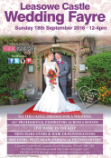 Wedding Fayre North West, Wirral at Leasowe Castle Hotel - 18th September 2016. Wedding Ideas & Wedding Inspiration!