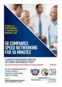 speed, networking, business, bierkeller, 50, charity, cancer, research ,wales