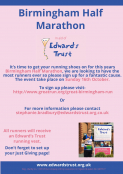 Birmingham Half Marathon in Aid of Edwards Trust