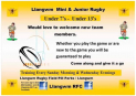 Llangwm Mini and Junior Rugby