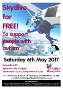 Skydive for free and support people with Autism