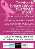 Breast Cancer Awareness Month raffle