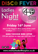 Michael Sobell Hospice Ladies in the Night Disco Fever Walk