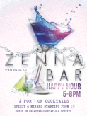 Happy Hour at Zenna Bar