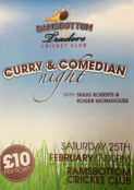 Curry and Comedian Night