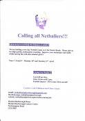 Two Day Easter Netball Camp