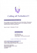 One Day Easter Netball Camp
