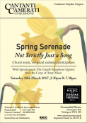 Spring Serenade: Not Strictly Just a Song