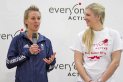 Alex Danson and Rebecca Adlington at the Hart Leisure Centre