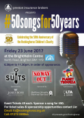 50songsfor50years for Rockinghorse Children's Charity @ BrightHelm Centre