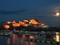 MUSEUMS AT NIGHT AT CASTLE CORNET