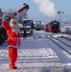 Santa Special Steam Trains From Woody Bay Station