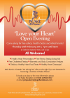 """Love your Heart"" Open Evening 25 Feb"