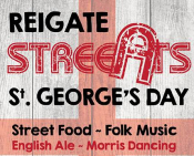 St George's Day Street Eats in #Reigate @Reigatesteats @bansteadlife