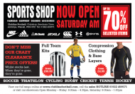 **CLEARANCE SALE at Clubline Sports Shop Aldridge **