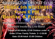 Bonfire Night Celebrations at Ramsbottom Cricket Club 2015