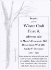 Bespoke presents Winter Craft Fayre and table top sale