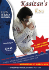 The King is back - An Evening of Impressions & Song at Kaaizans St Neots