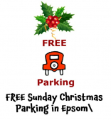 Free Sunday Parking in the run up to Christmas in Epsom @epsomewellbc