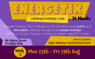 Energetix Kids Holiday Club St Neots 8 - 12 year olds - 3rd week