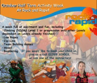 Half Term Activity Week with Rock and Rapid