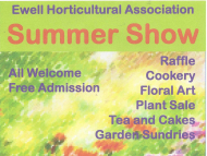 Ewell Horticultural Assoc. – SUMMER SHOW #Loveyourgarden
